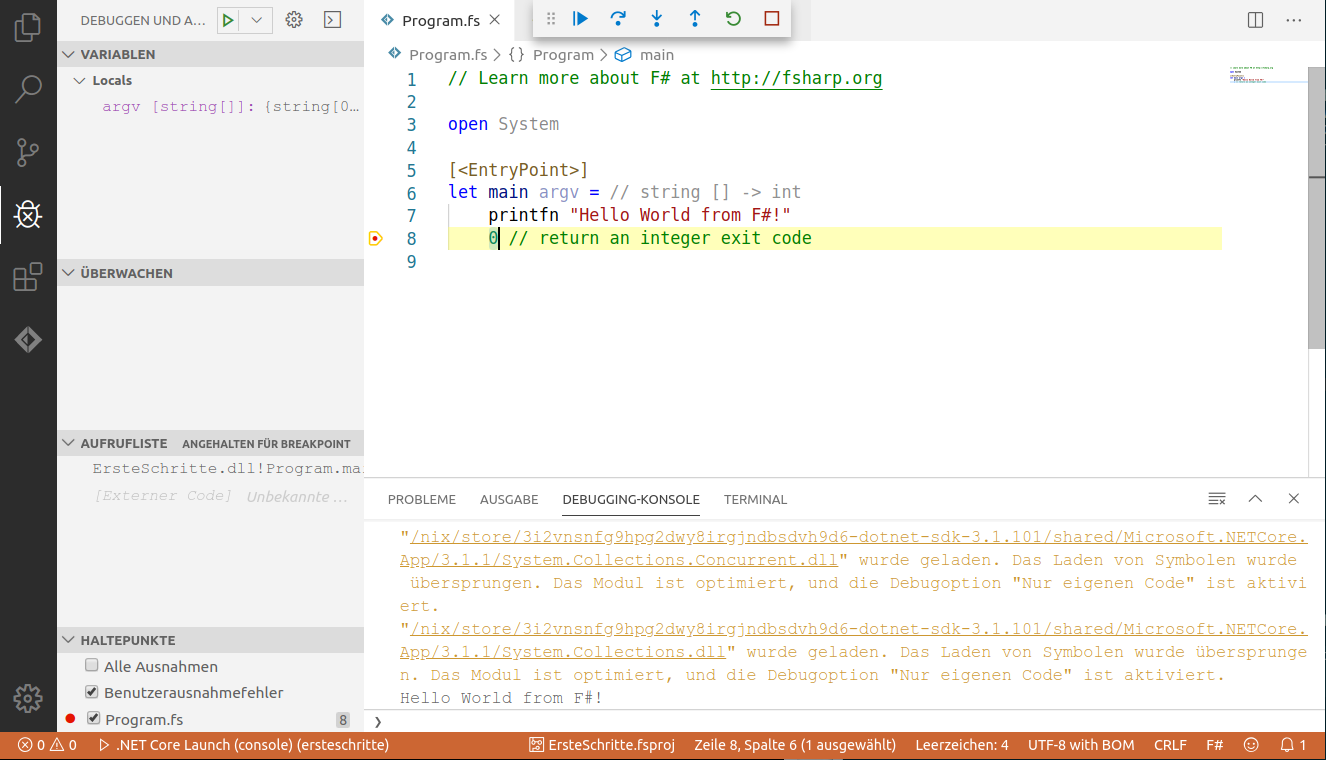 Visual Studio Code Debuggen